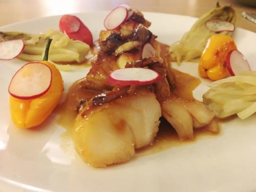 Cabillaud mariné en sauce miso yuzu par le chef Anthony KHALIFA
