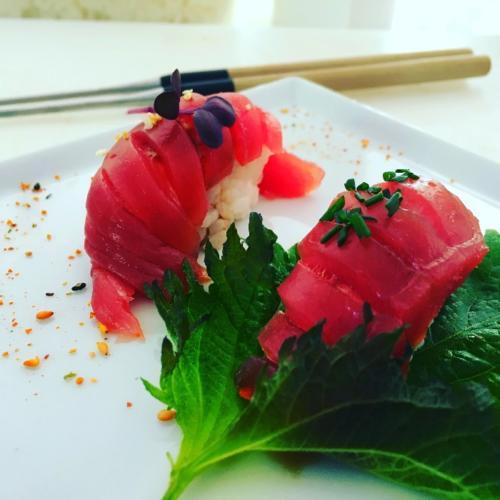 Nigiri sushi au thon par le chef Anthony KHALIFA